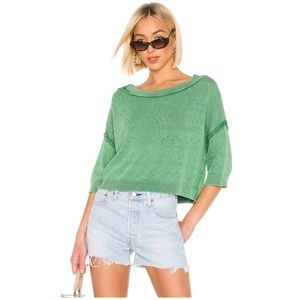 Free People Light Sweater Green Size X Small